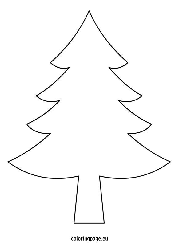 Christmas Tree Drawing Template Christmas Tree Drawing