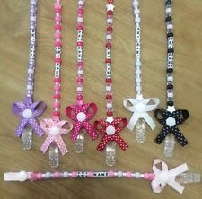Personalised Bow Dummy Clip. Any Colour Any Name. Perfect Baby Gift.