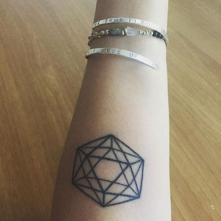 Trust and going with the flow of life. Isocahedron tattoo by Shaun at #bondiink