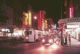 Brisbane tram at night