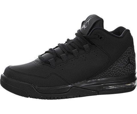 Nike Jordan Kids Jordan Flight Origin 2 BG Black/Black/Dark Grey Basketball Shoe 5 Kids US