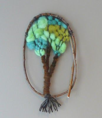 Woven tree wall hanging