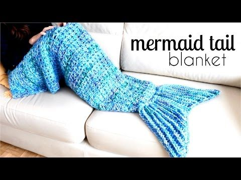[Video Tutorial] This Awesome Mermaid Tail Blanket Is An Easy Pattern For Beginners - Knit And Crochet Daily