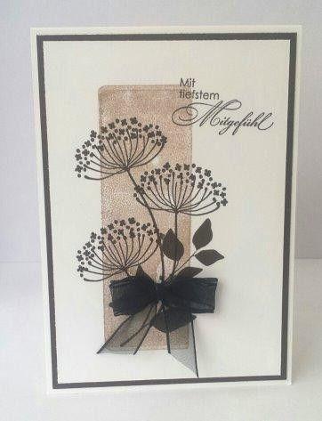 Trauer & Beileid - Trauerkarte - ein Designerstück von Petra833 bei DaWanda
