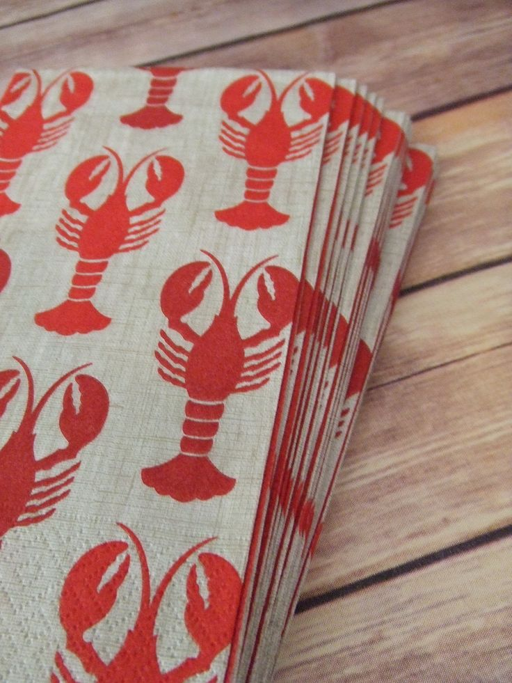 Lobster Paper Napkins, Paper Guest Towels, These Napkins would go great with a beach theme wedding, baby shower, birthday party, or just for a great time by the ocean. Made of triple-ply tissue printe