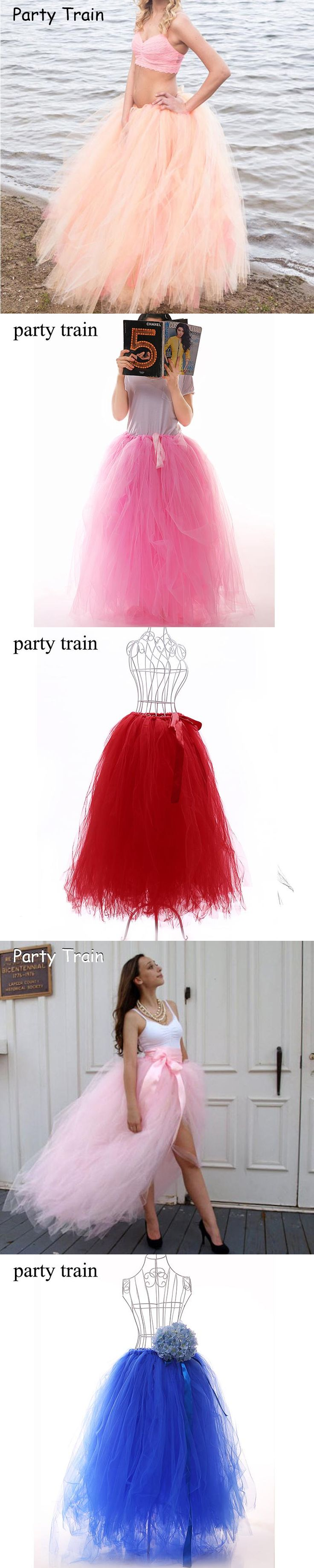 2017 100cm Long Tulle Skirt Girls Fluffy Chiffon Solid Colors Adult Tutu Skirts Womens Bridesmaids Dance Maxi Skirt Christmas
