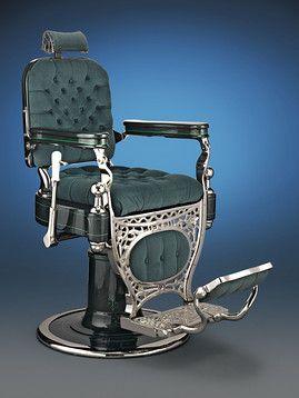 American Antiques, Theodore A. Kochs, Barber Chair ~ M.S. Rau Antiques