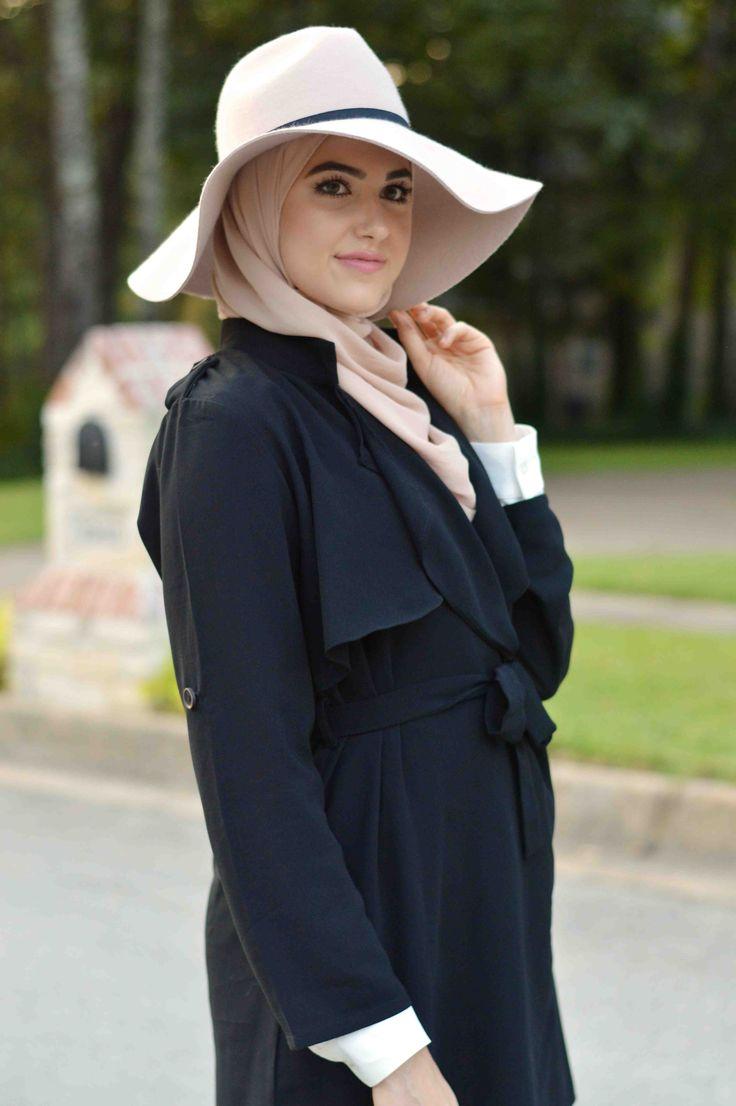 hijab fashion, hijab with hat, With Love, Leena. – A Fashion + Lifestyle Blog by Leena Asad