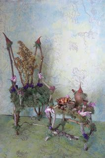 Several pieces of pretty fairy furniture - difficult to choose a favorite!