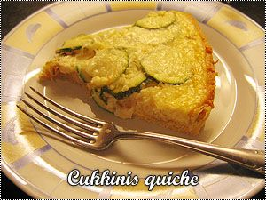 Cukkinis quiche