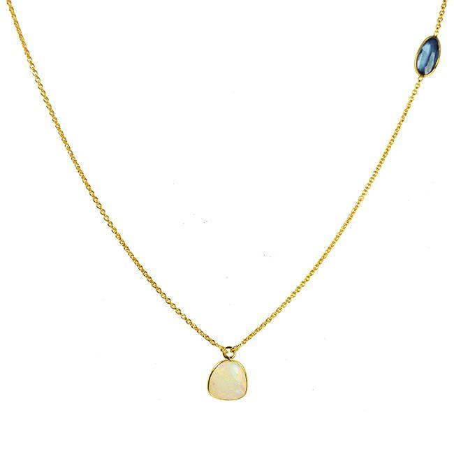 Opal & Sapphire & HANDMADE