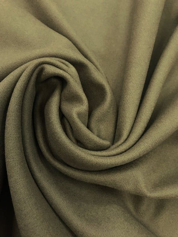 Rl 100 Pure Merino Wool Fabric In Olive From Italy Sold By The Yard In 2020 Wool Fabric Fabric Italian Fabric