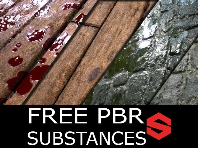 Fee PBR Material (Substance) - Wood Planks and Cobblestone , Tim Hertel on ArtStation at https://www.artstation.com/artwork/2OKoY