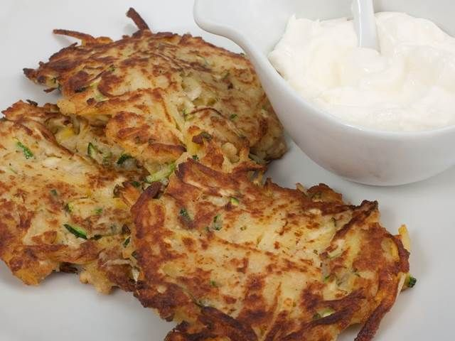 Cuketové bramboráčky - vynechat vejce a vetsinu mouky