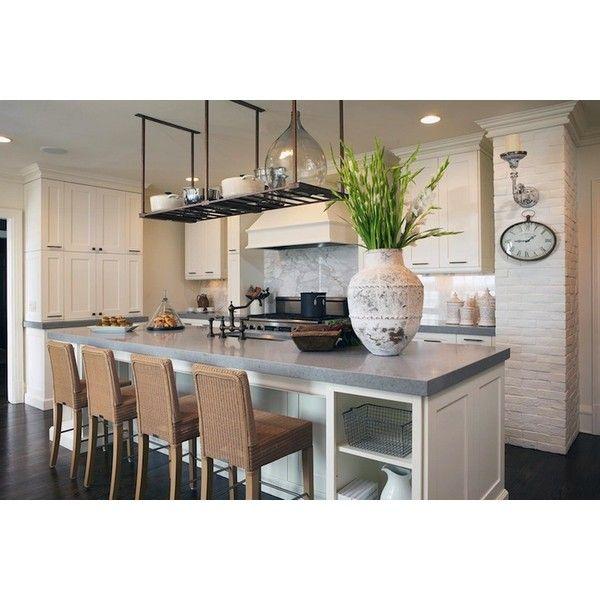Quartz Kitchen Island Ideas: White Kitchen Cabinets White Kitchen Island