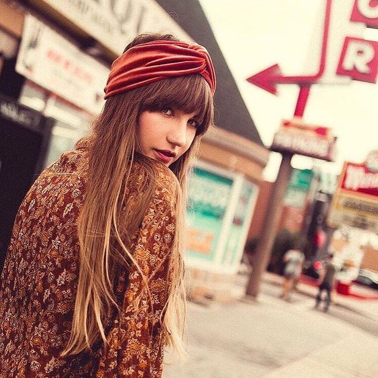 Fall is here Magical babe @sara_waiste in the Burnt Orange Velvet Turban & @waiste_vintage. Photographed by @cammacky Link in bio to shop this cozy dreamy piece #BabesInBands