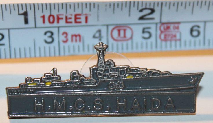 HMCS Haida Royal Canadian Navy Collectible Pinback Pin Button 1994 G63