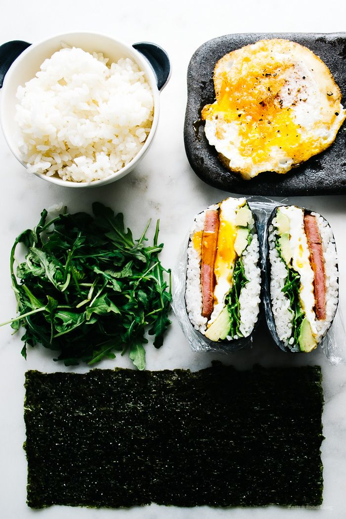 how to make onigizaru or sushi sandwiches - www.iamafoodblog.com