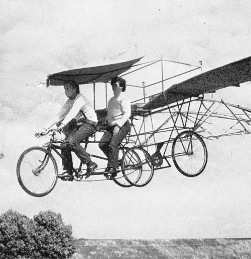 flying bicycles