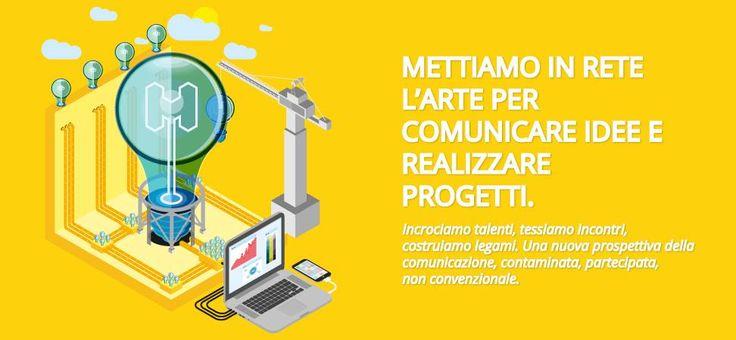 METTIAMO IN RETE L'ARTE PER COMUNICARE IDEE E REALIZZARE PROGETTI #meshhub #ideeinterazioniprogetti #graphicidentity #website #design #artworks #corporateidentity