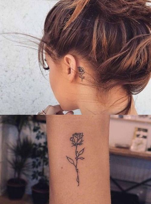 Always Beautiful Rose Flower Tattoo Placement For Women To Look Cute #tattoos