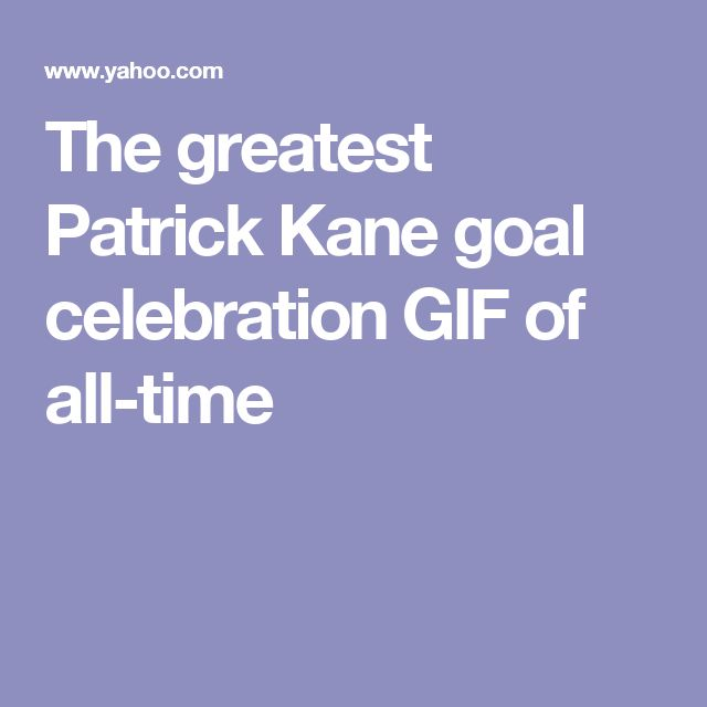 The greatest Patrick Kane goal celebration GIF of all-time