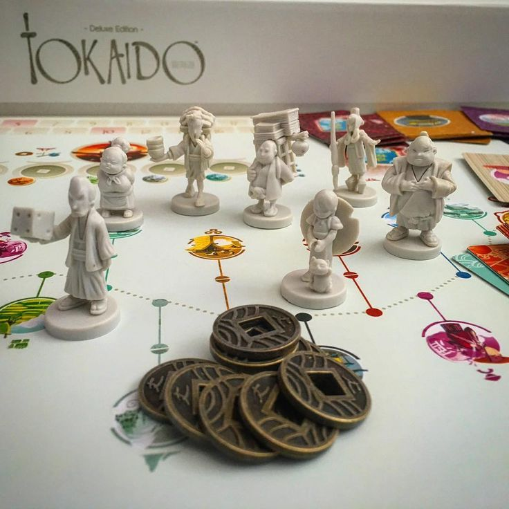 The miniatures in #TokaidoDeluxe are beautiful little Meiji era ivory look sculptures (thanks @gerrardwarburton for that info). We've got this scheduled in for play this weekend and surprisingly none of the group have played #Tokaido before in any form. #bgg #Boardgame #boardgamer #boardgames #boardgamegeek #tabletop #tabletopgame #tabletopgamer #tabletopgames #tabletopgaming #funforge #meijiera #miniatures #figurines