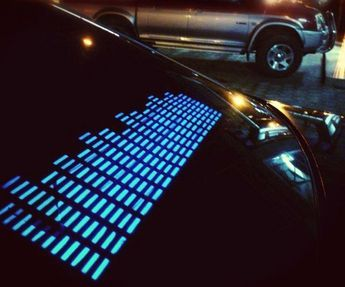 Sound Activated LED Car Sticker | DudeIWantThat.com