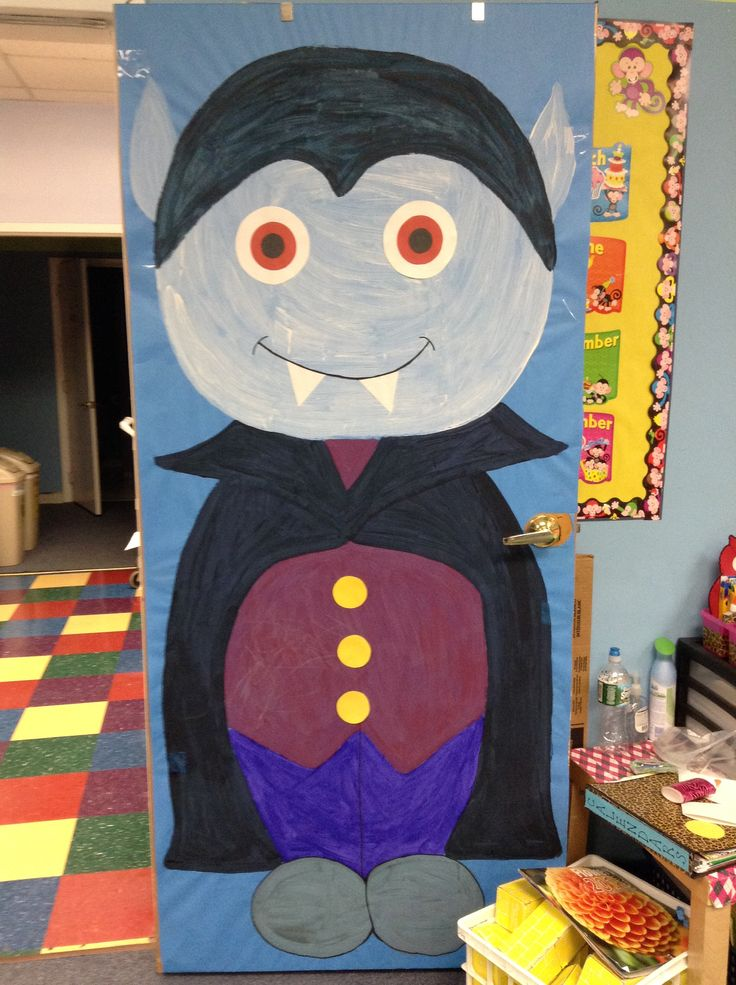 halloween dracula vampire door decoration - Halloween Crafts For The Classroom