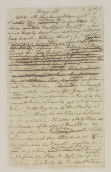 Jane Austen's handwritten manuscript of Persuasion