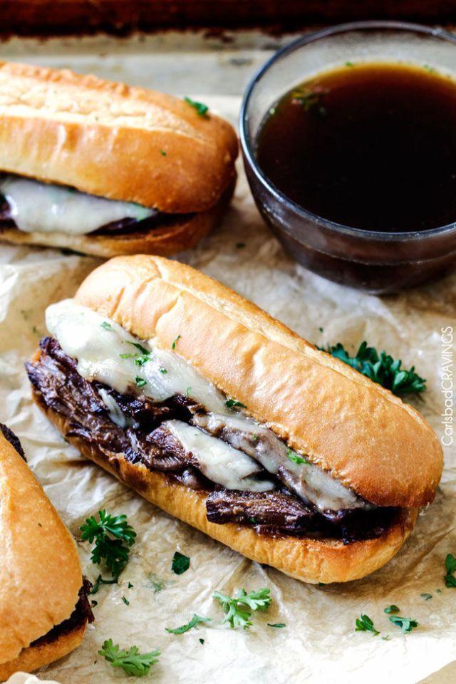 French Dip Sandwiches - CountryLiving.com