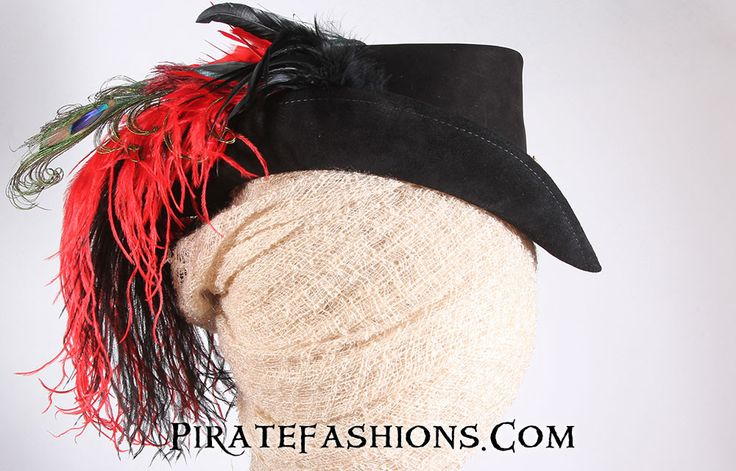 This be the Style of Hat be called the Ladies Riding Hat. Popular during the the late pirate era, prefect fer steam punk as well. Th very elegant head gear will catch the eye of many of pyrate. This b