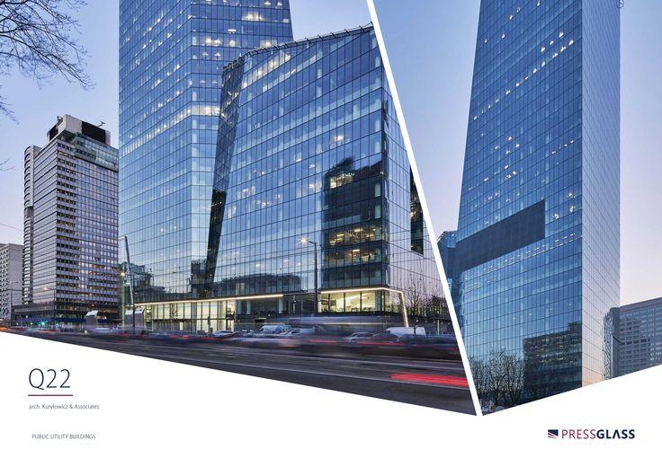 Q22 skyscraper in Warsaw (Poland) / Wieżowiec Q22 w Warszawie.