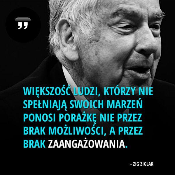 Większość ludzi, którzy nie spełniają... #Ziglar-Zig,  #Człowiek, #Decyzje, #Klęska,-porażka,-błędy, #Marzenia-i-pragnienia, #Poświęcenie, #Wyzwania