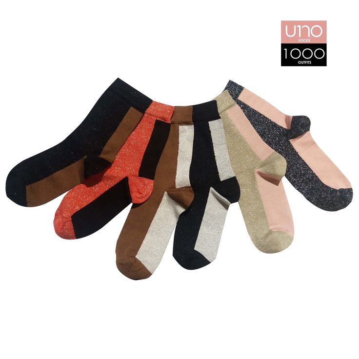 Set di 6 calze; caratterizzate da doppio colore a tinta unita.  Altezza calza: Mezzo polpaccio  Composizione: 72% cotone 22% poliammide 4% poliestere 2% elastane  Colore: Rosso - Nero - Rosa tenue - Panna - Marrone bruciato - Beige  (Lurex)  Stagione: Autunno\Inverno  Taglia Unica