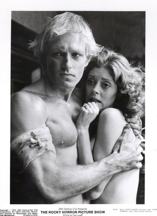 The Rocky Horror Picture Show: Susan Sarandon (Janet Weiss- A Heroine) and Peter Hinwood (Rocky Horror- A Creation)