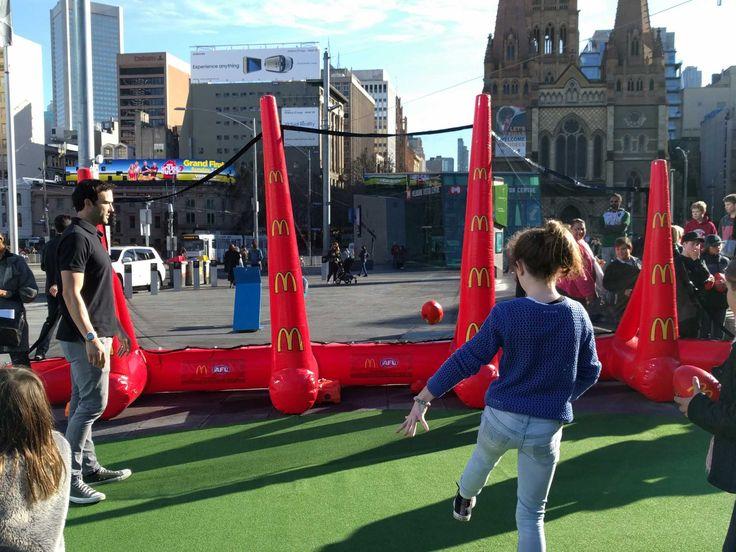 Inflatable AFL goals game