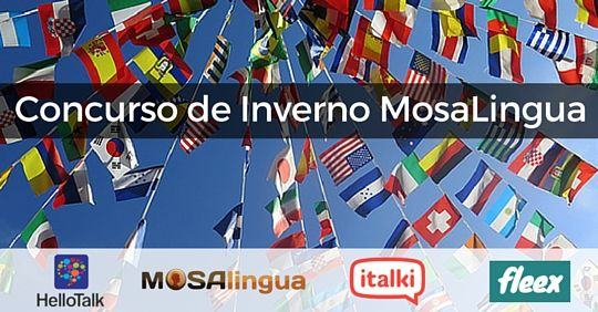 Acabei de me inscrever no @Concurso de Inverno MosaLingua. Participe também e me ajude a ganhar o super prêmio.