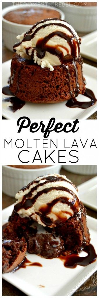 These Perfect Molten Lava Cakes turn out perfect every time! You'll love this easy, foolproof recipe for gooey, smooth lava cakes! (Favorite Desserts Lava Cakes)