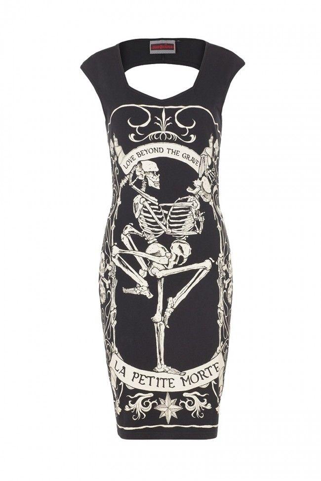 Jawbreaker Petite Morte Cutout Back Bodycon Dress