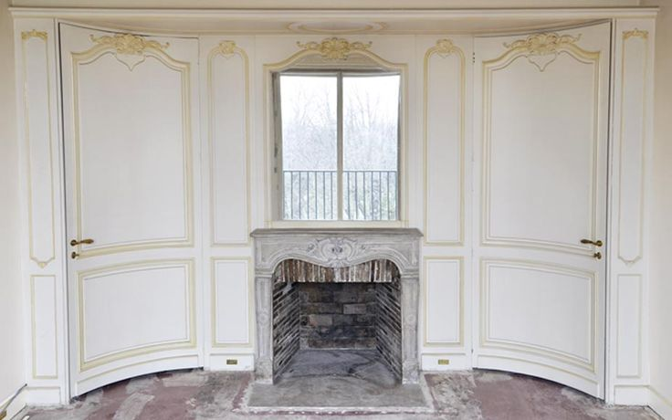 Beautiful Louis XV style paneled room with 18th century stone fireplace - Paneled rooms