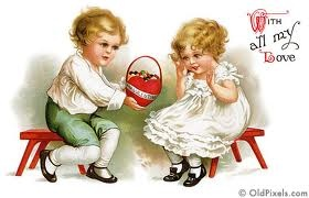 With all my heart: Vintage Postcards, Vintage Valentines, Clipart, Clip Art, Valentines Day, Greeting Card, Valentines Cards, Victorian Valentines, Vintage Cards