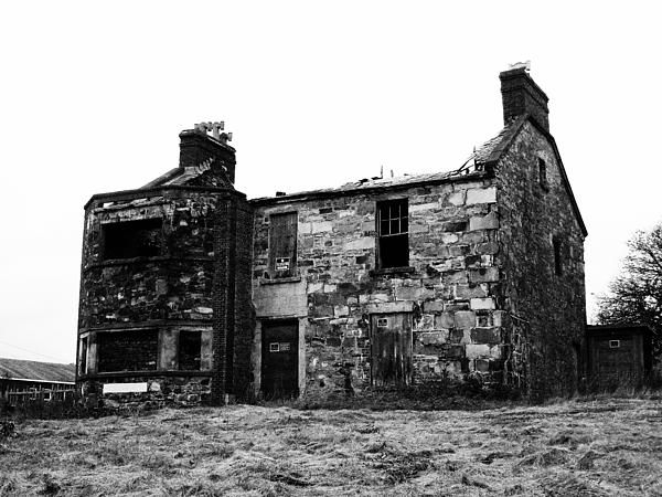 Burnt Ridley Hall by Zinvolle - Built in 1834, Ridley Hall is an imposing structure made of local stone and brick with a slate roof, is one of the few remaining stone structures along Water Street in Harbour Grace