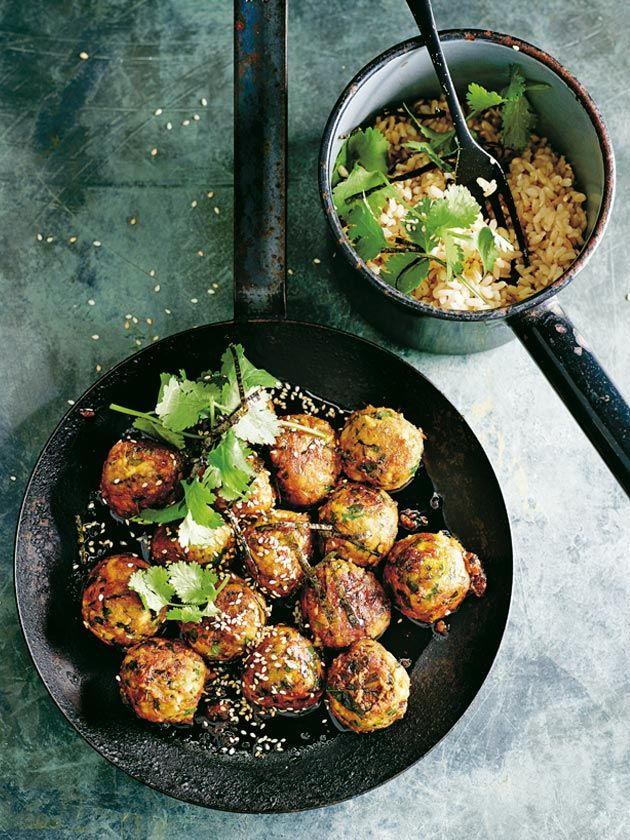Brown Rice And Tofu Teriyaki Balls | Donna Hay