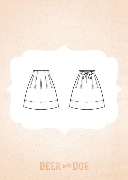 Chardon skirt  navy drill summer wool plaid winter elsa&zara