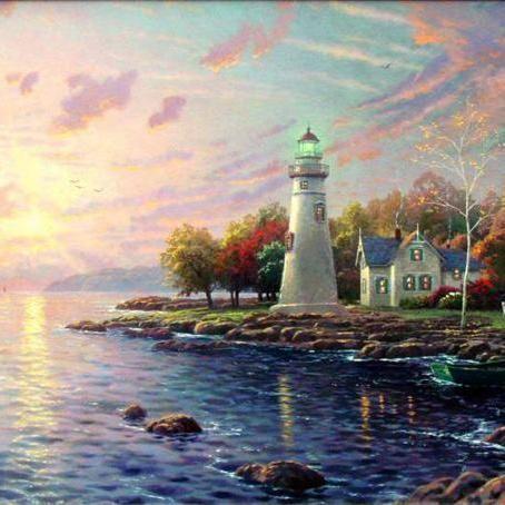 Thomas Kinkade Serenity Cove Cross Stitch Pattern***L@@K***~~ I SEND WORLD-WIDE ~~Free