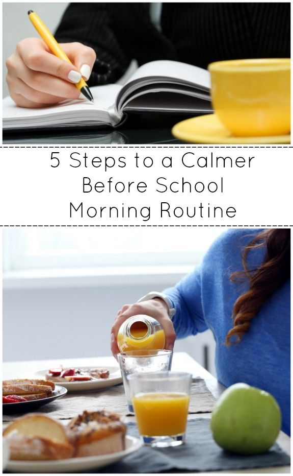 5 Steps to a Calmer Before School Morning Routine - get your free printable morning routine checklist!