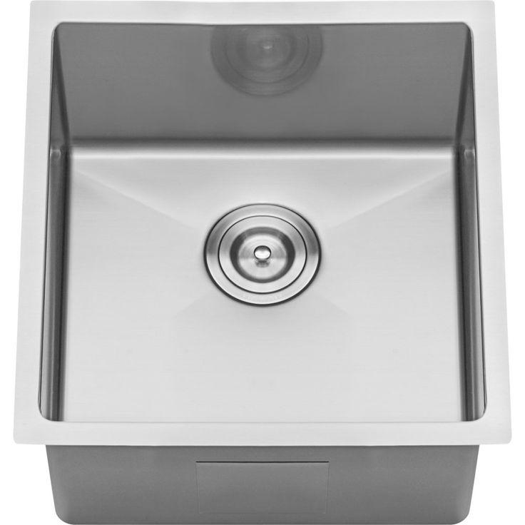 Good Ruvati RVH7114 Gravena Stainless Steel Undermount Single Bowl Bar / Prep  Sinks | EFaucets.com