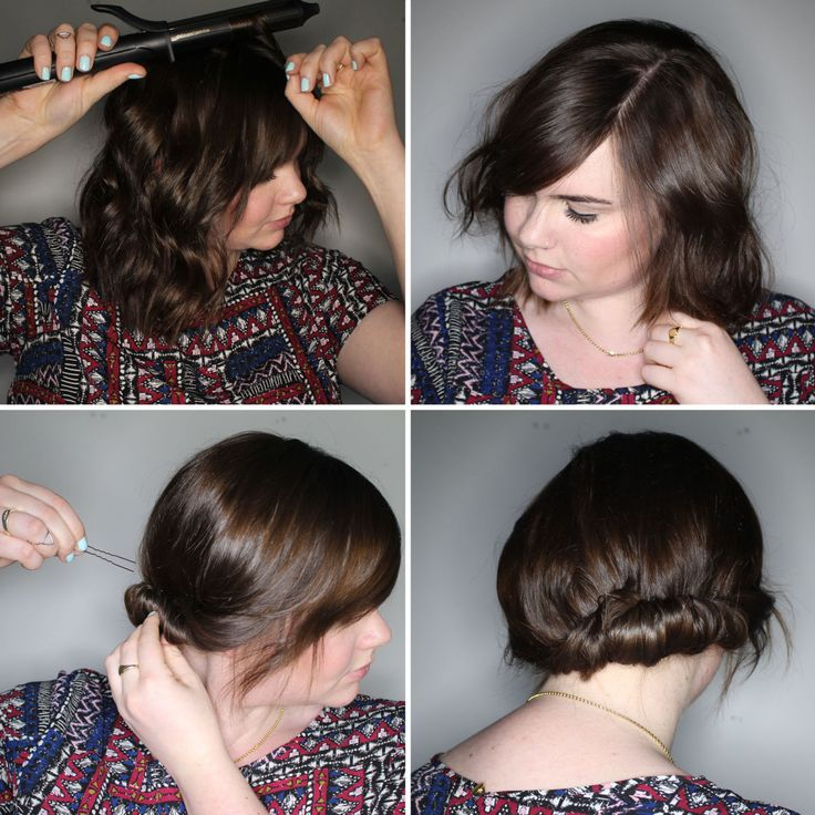 Image Result For Up Do For Short Hair