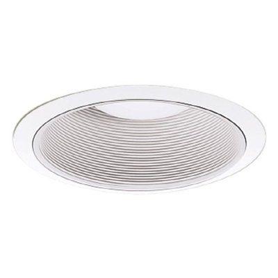 Cooper Lighting 5-in White Baffle Recessed Lighting Trim